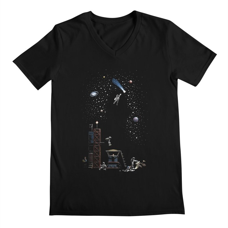 Astronot Men's Regular V-Neck by Made With Awesome