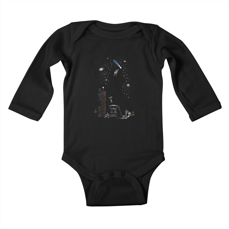 Astronot Kids Baby Longsleeve Bodysuit by Made With Awesome