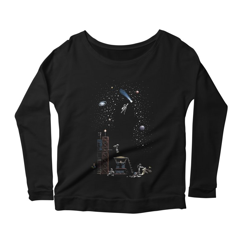 Astronot Women's Scoop Neck Longsleeve T-Shirt by Made With Awesome