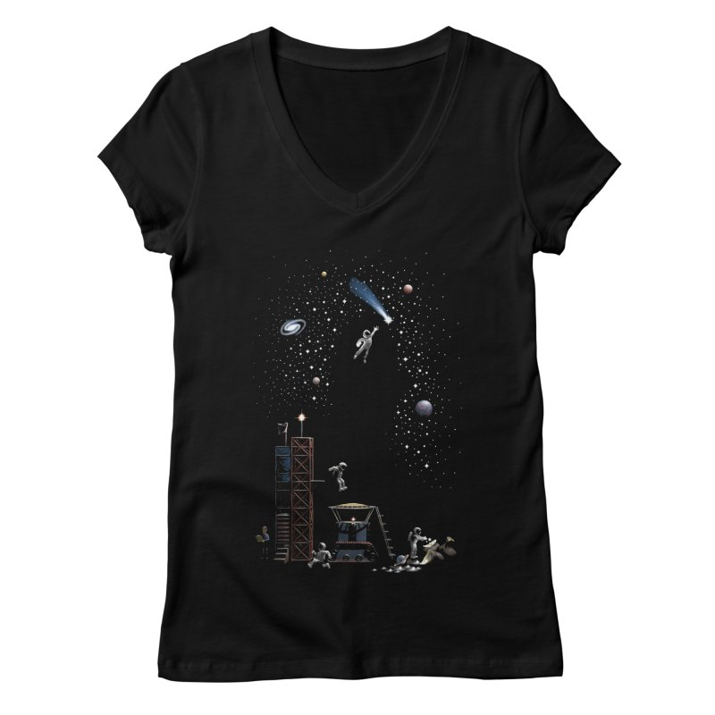 Astronot Women's Regular V-Neck by Made With Awesome