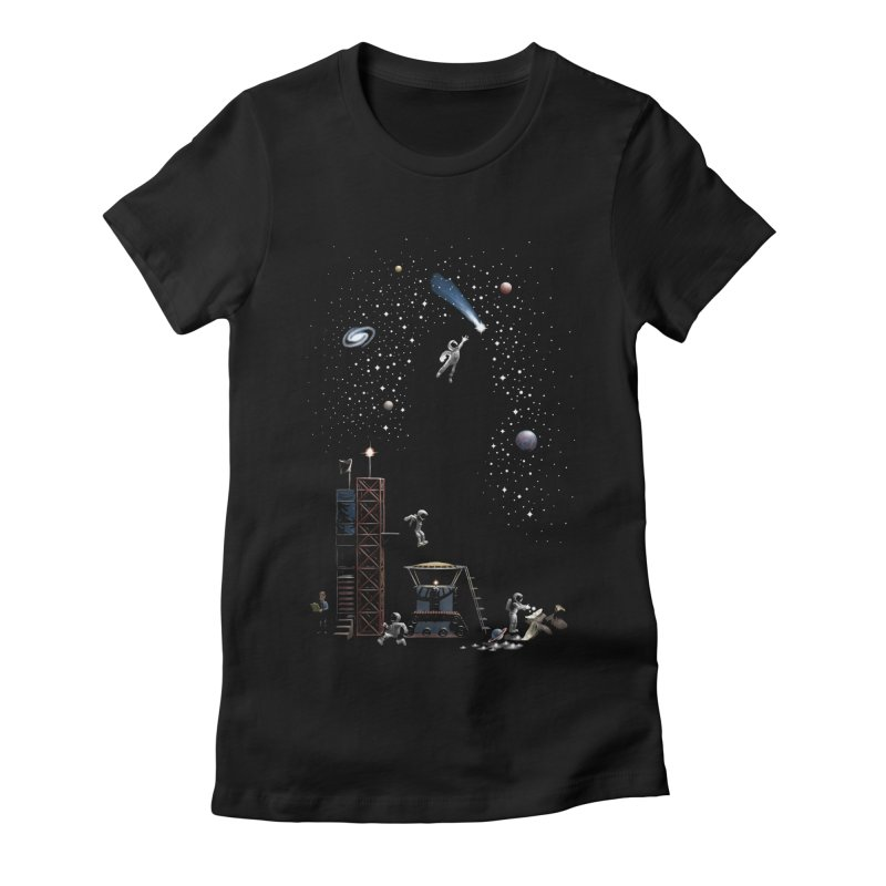 Astronot Women's Fitted T-Shirt by Made With Awesome