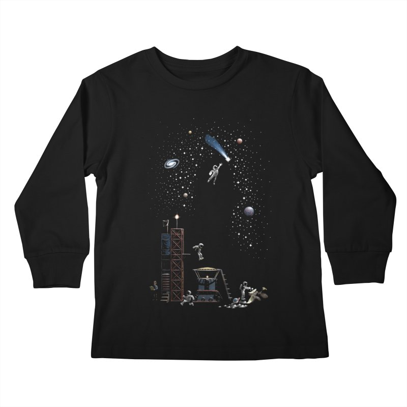 Astronot Kids Longsleeve T-Shirt by Made With Awesome
