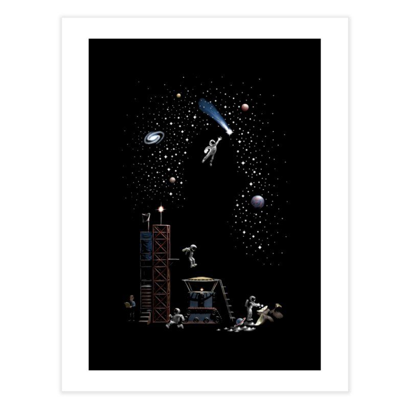 Astronot Home Fine Art Print by Made With Awesome