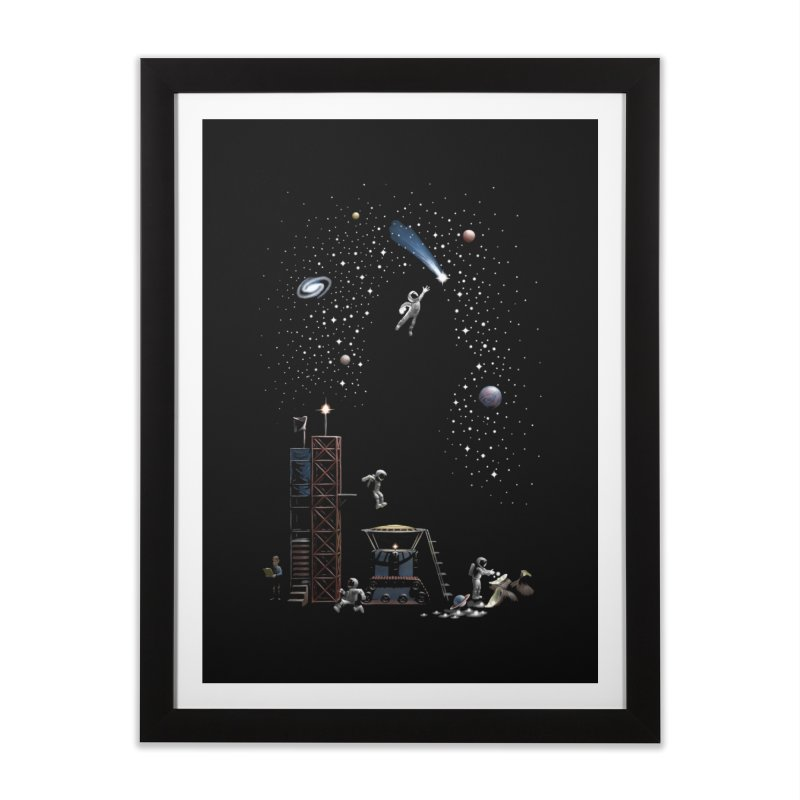 Astronot Home Framed Fine Art Print by Made With Awesome