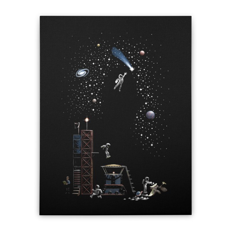 Astronot Home Stretched Canvas by Made With Awesome