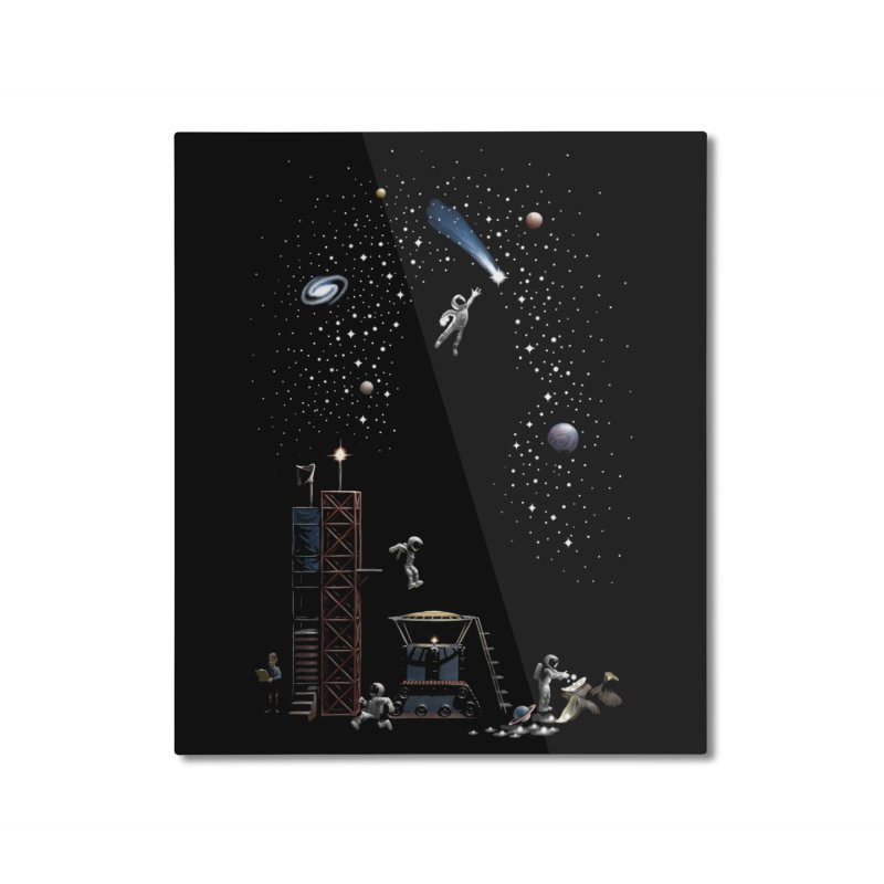 Astronot Home Mounted Aluminum Print by Made With Awesome