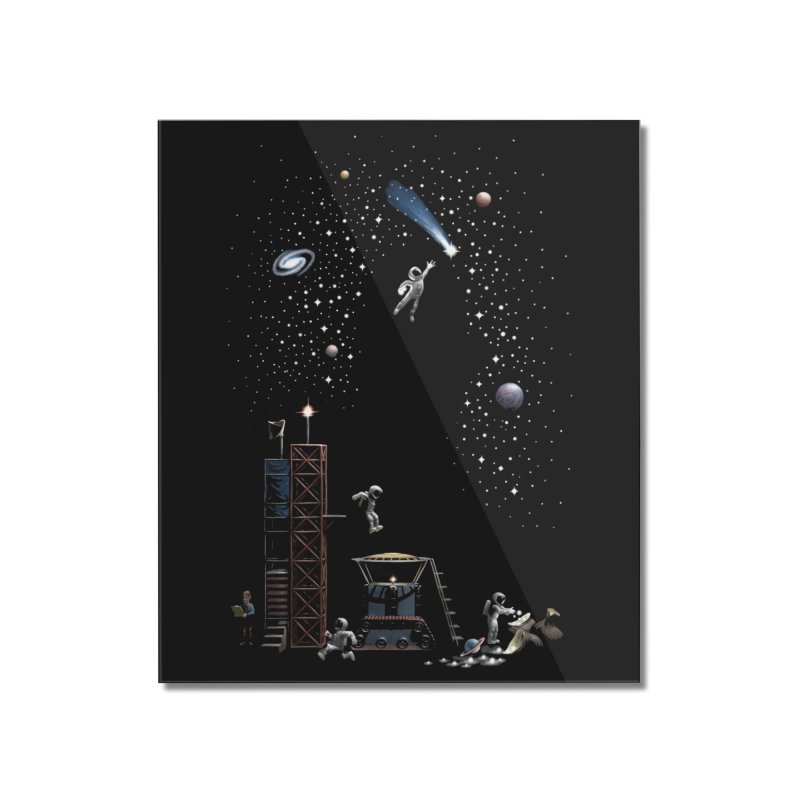 Astronot Home Mounted Acrylic Print by Made With Awesome