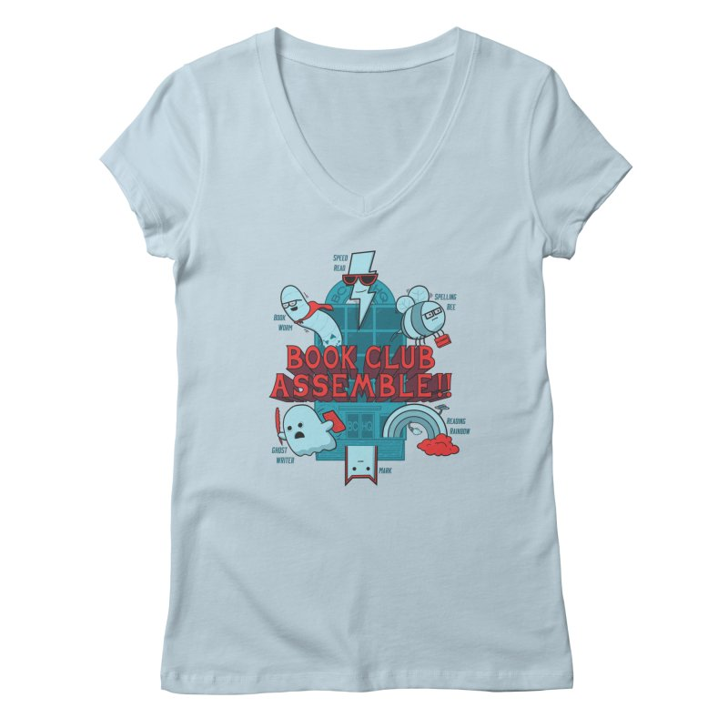 Literature Power! Women's Regular V-Neck by Made With Awesome