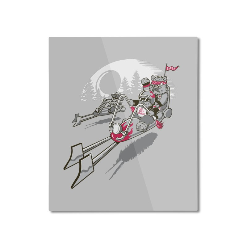 Easy Speedin Home Mounted Aluminum Print by Made With Awesome