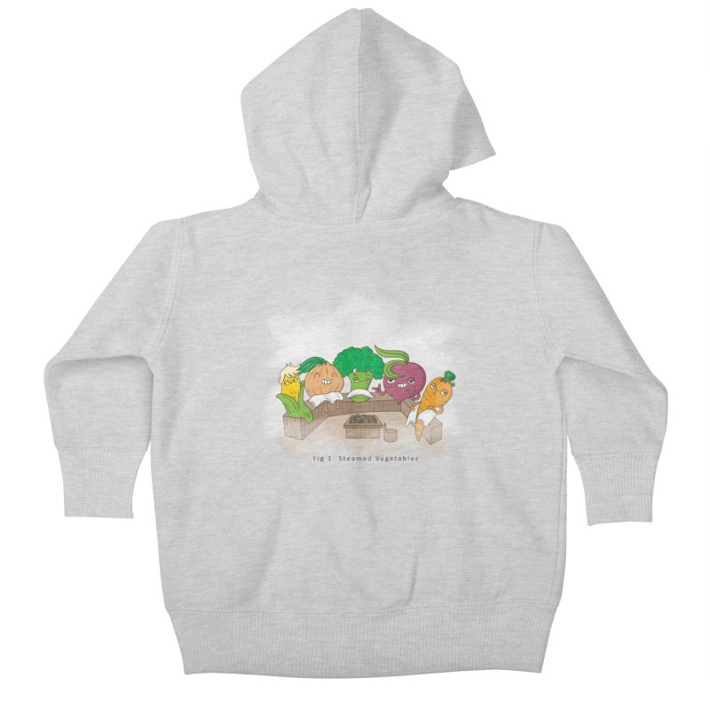 Steamy Kids Baby Zip-Up Hoody by Made With Awesome