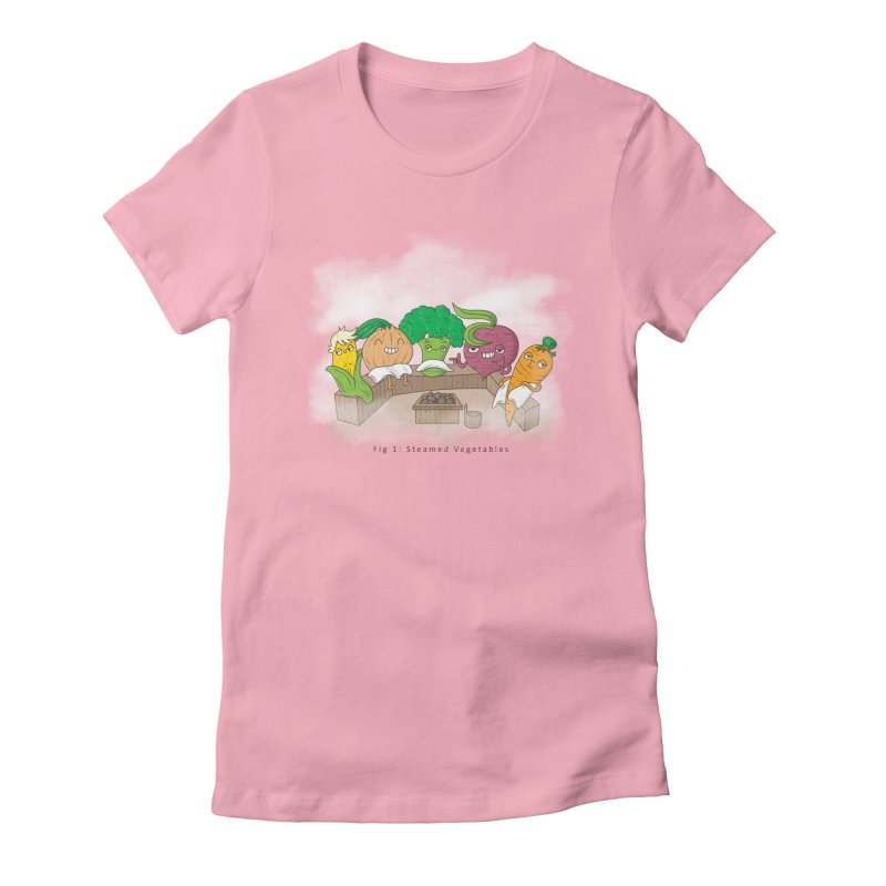 Steamy Women's Fitted T-Shirt by Made With Awesome