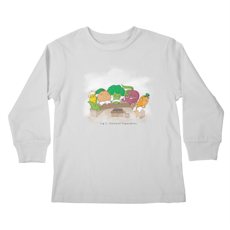 Steamy Kids Longsleeve T-Shirt by Made With Awesome