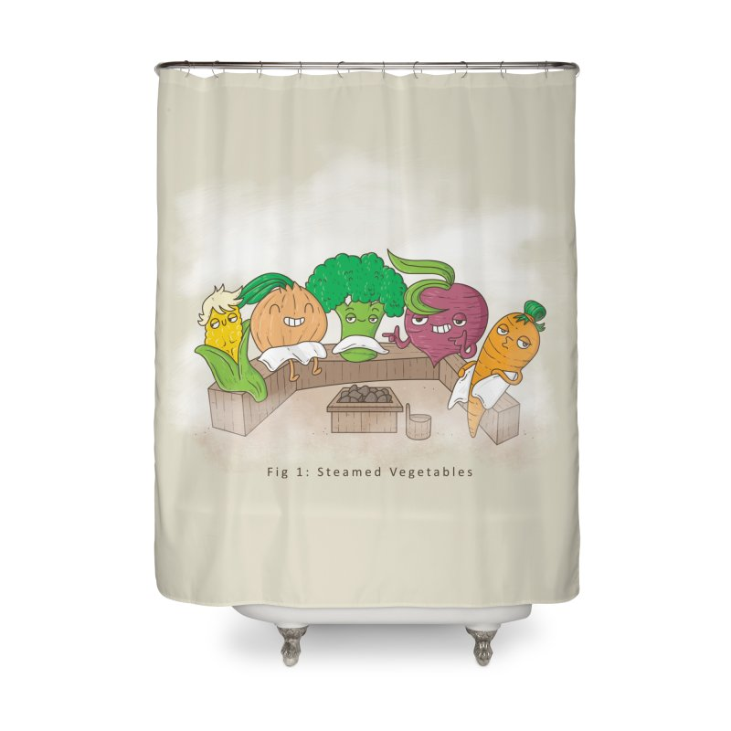 Steamy Home Shower Curtain by Made With Awesome