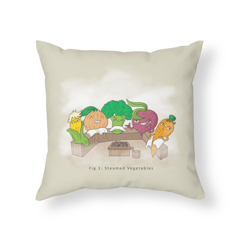 Steamy Home Throw Pillow by Made With Awesome