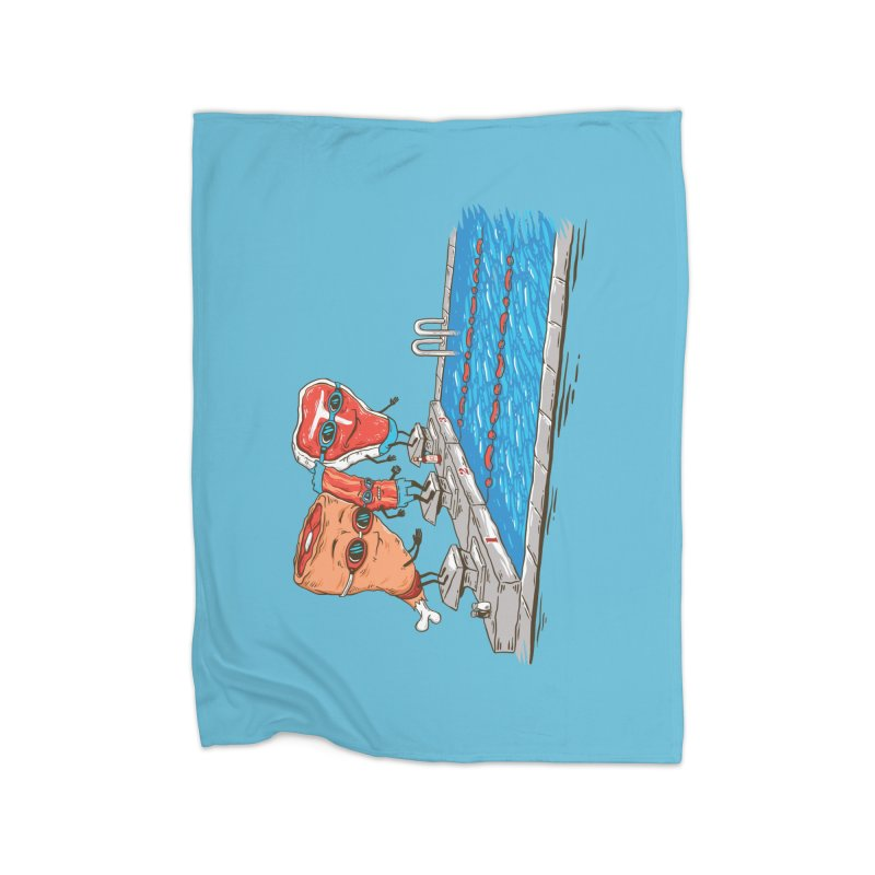 Swim Meat Home Fleece Blanket Blanket by Made With Awesome