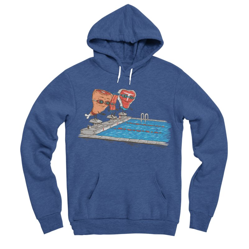 Swim Meat Women's Sponge Fleece Pullover Hoody by Made With Awesome