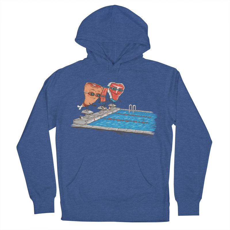 Swim Meat Men's French Terry Pullover Hoody by Made With Awesome