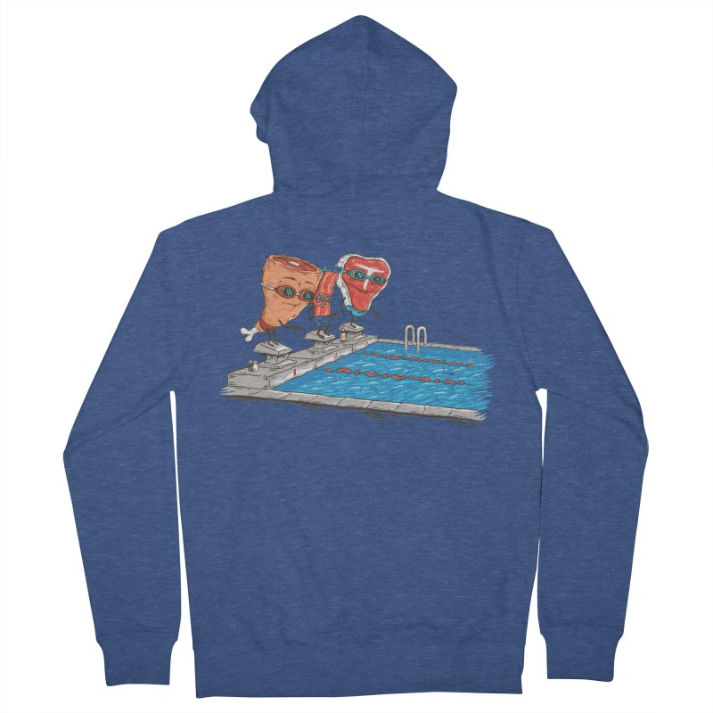 Swim Meat Men's French Terry Zip-Up Hoody by Made With Awesome