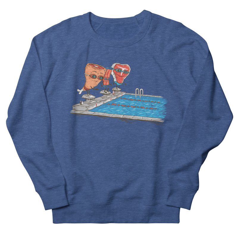 Swim Meat Men's French Terry Sweatshirt by Made With Awesome
