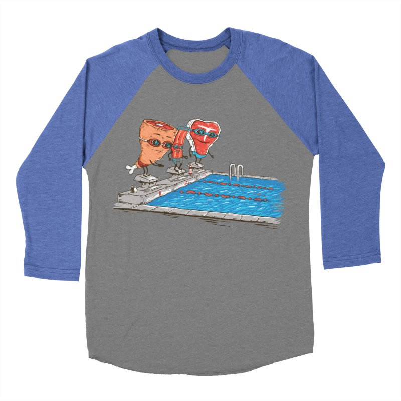 Swim Meat Women's Baseball Triblend Longsleeve T-Shirt by Made With Awesome
