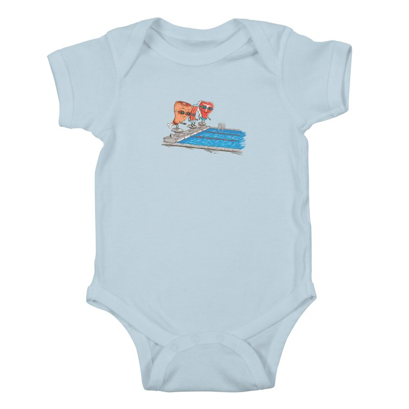 Swim Meat Kids Baby Bodysuit by Made With Awesome