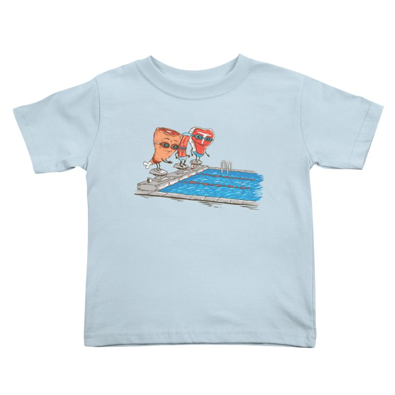Swim Meat Kids Toddler T-Shirt by Made With Awesome