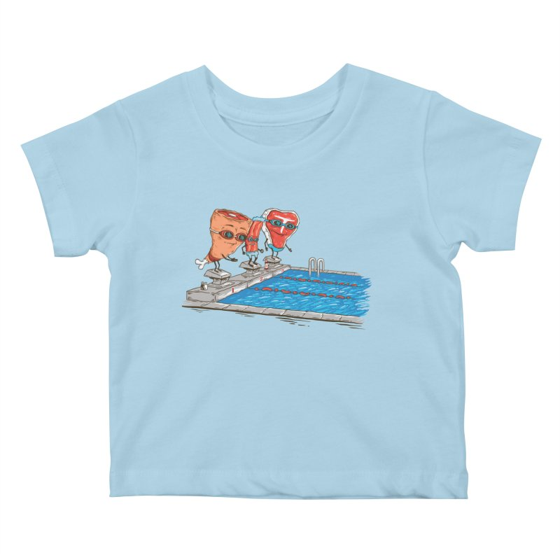 Swim Meat Kids Baby T-Shirt by Made With Awesome