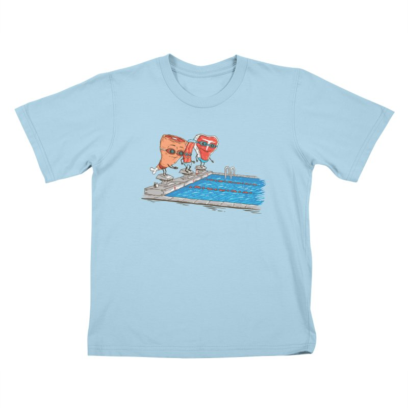 Swim Meat Kids T-Shirt by Made With Awesome