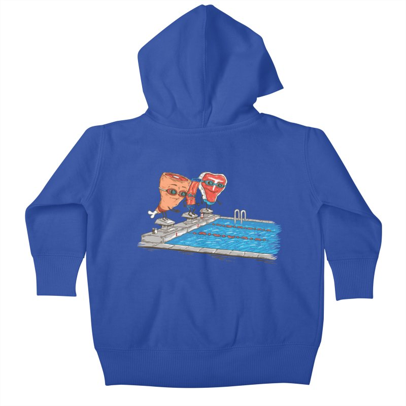 Swim Meat Kids Baby Zip-Up Hoody by Made With Awesome