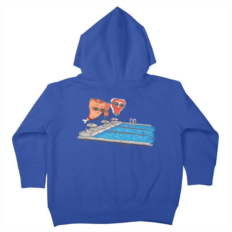 Swim Meat Kids Toddler Zip-Up Hoody by Made With Awesome