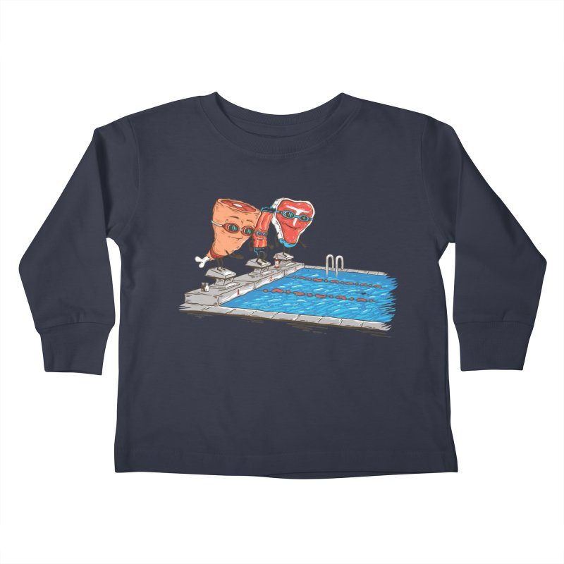 Swim Meat Kids Toddler Longsleeve T-Shirt by Made With Awesome