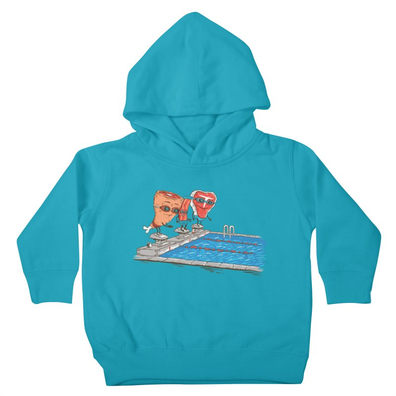 Swim Meat Kids Toddler Pullover Hoody by Made With Awesome
