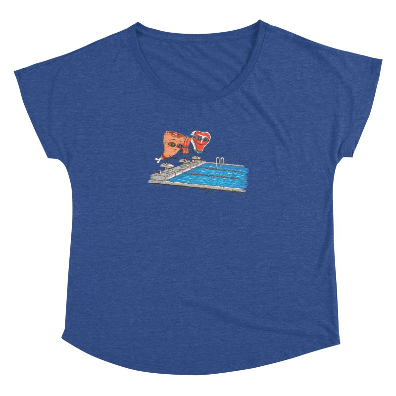 Swim Meat Women's Dolman Scoop Neck by Made With Awesome