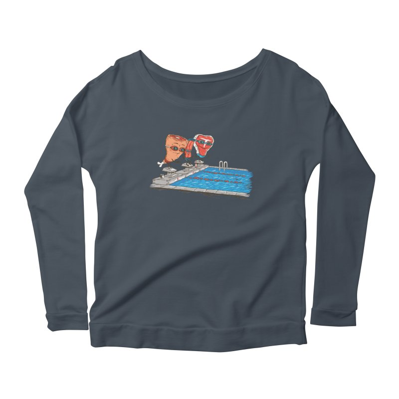 Swim Meat Women's Scoop Neck Longsleeve T-Shirt by Made With Awesome