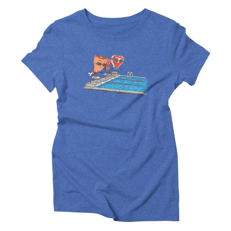 Swim Meat Women's Triblend T-Shirt by Made With Awesome