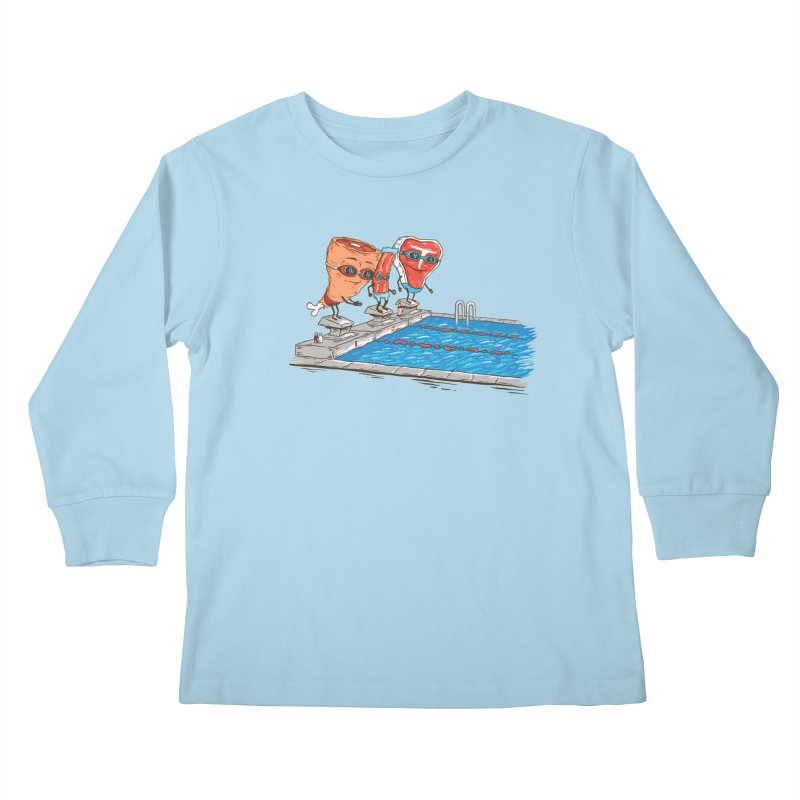 Swim Meat Kids Longsleeve T-Shirt by Made With Awesome