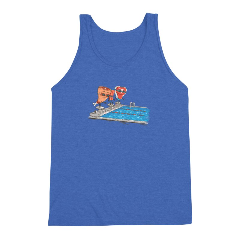 Swim Meat Men's Triblend Tank by Made With Awesome