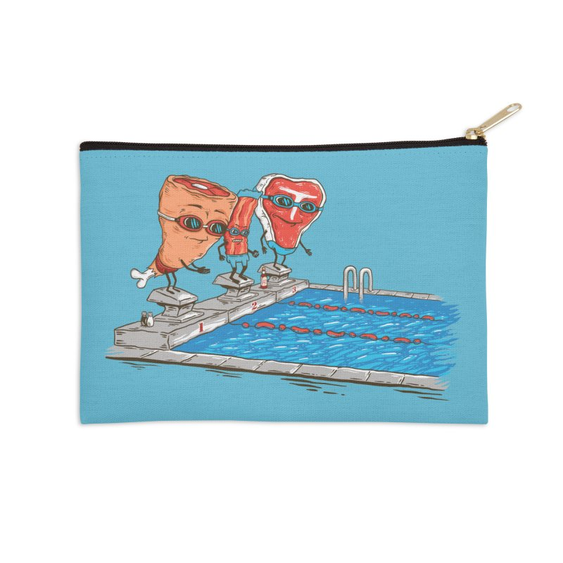 Swim Meat Accessories Zip Pouch by Made With Awesome