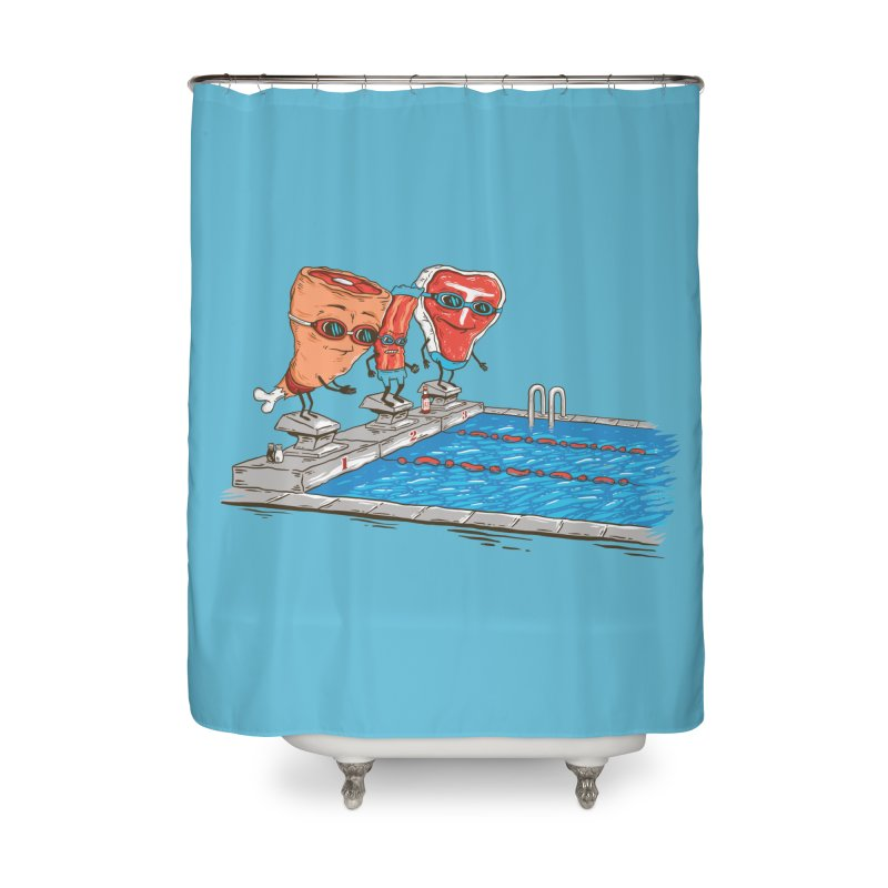 Swim Meat Home Shower Curtain by Made With Awesome