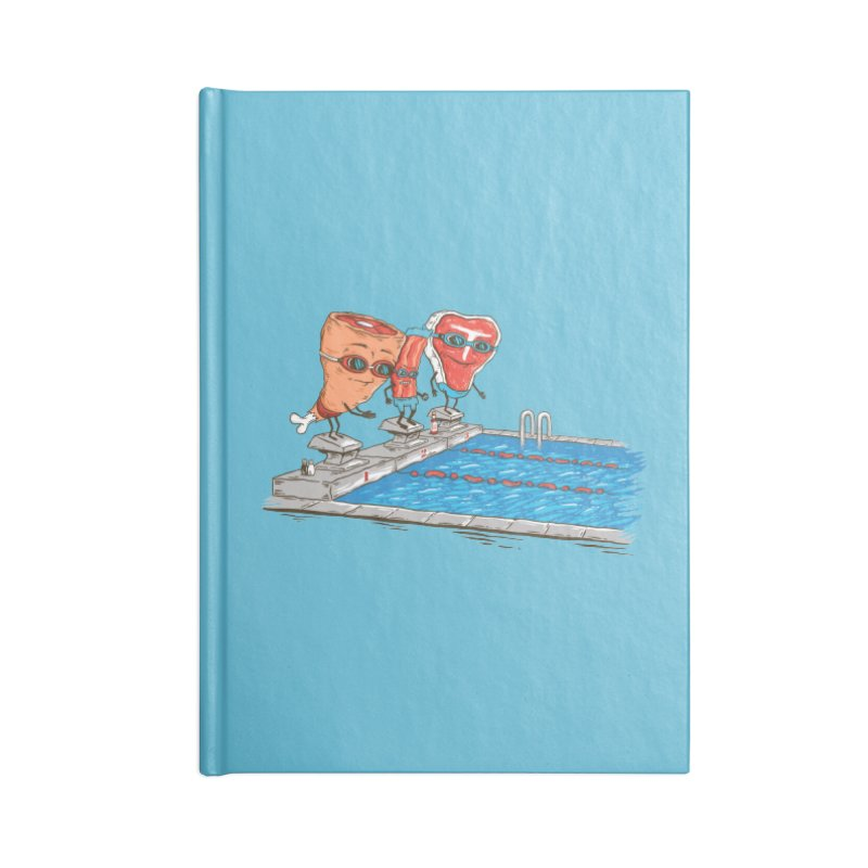 Swim Meat Accessories Notebook by Made With Awesome