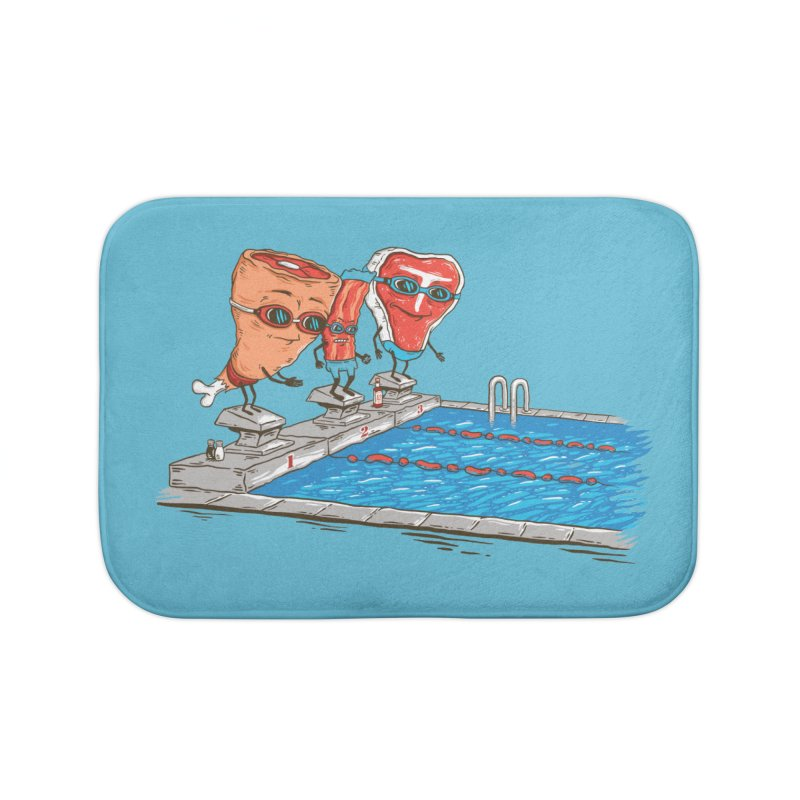 Swim Meat Home Bath Mat by Made With Awesome