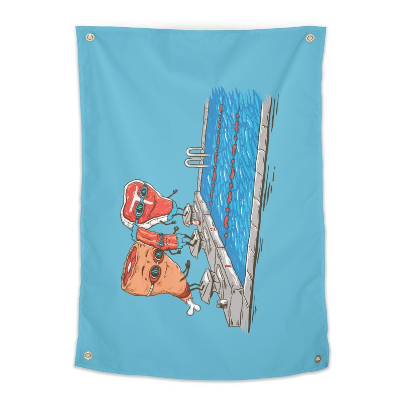 Swim Meat Home Tapestry by Made With Awesome