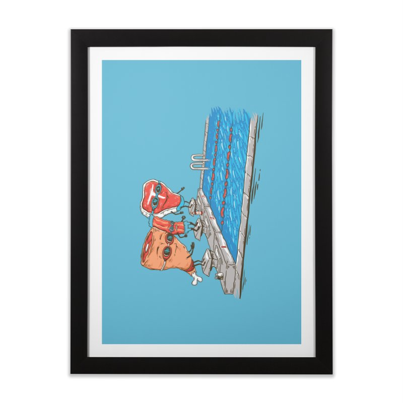 Swim Meat Home Framed Fine Art Print by Made With Awesome