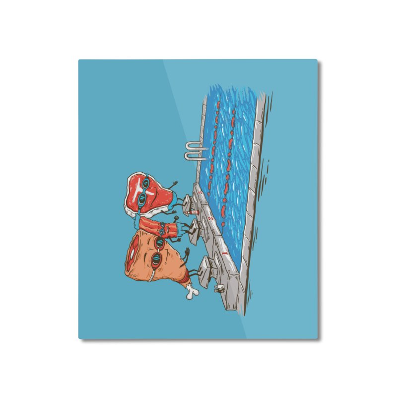 Swim Meat Home Mounted Aluminum Print by Made With Awesome