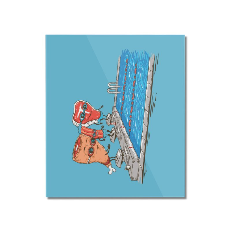 Swim Meat Home Mounted Acrylic Print by Made With Awesome