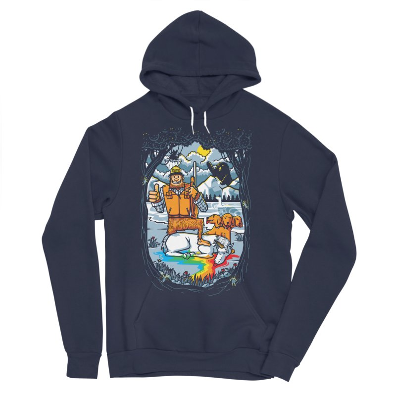 Unicorn Season Men's Sponge Fleece Pullover Hoody by Made With Awesome