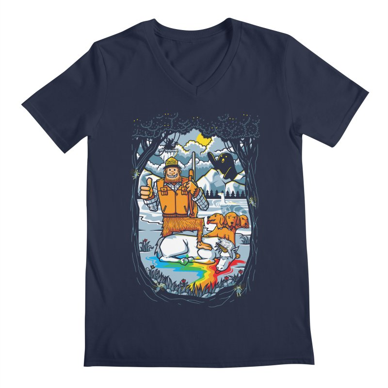 Unicorn Season Men's Regular V-Neck by Made With Awesome