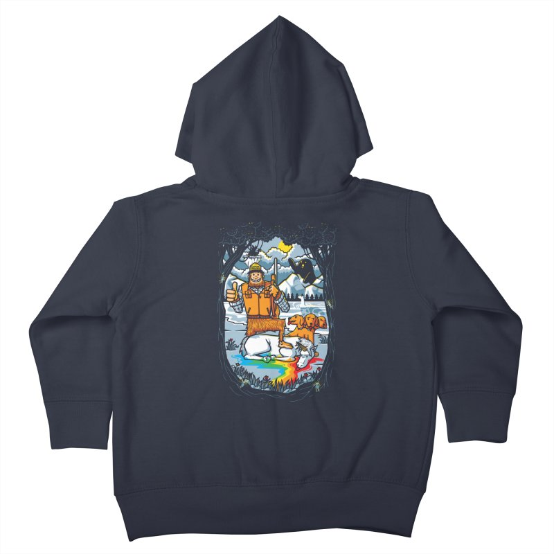 Unicorn Season Kids Toddler Zip-Up Hoody by Made With Awesome