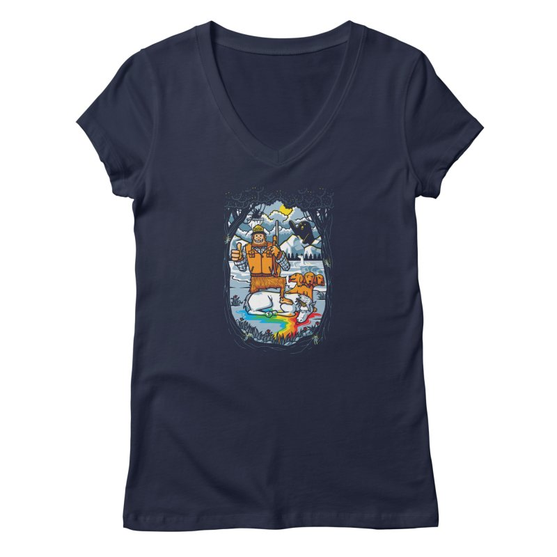 Unicorn Season Women's V-Neck by Made With Awesome