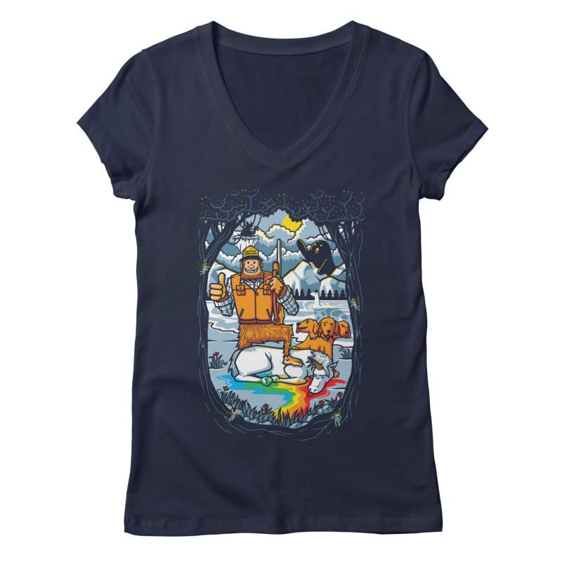 Unicorn Season Women's Regular V-Neck by Made With Awesome